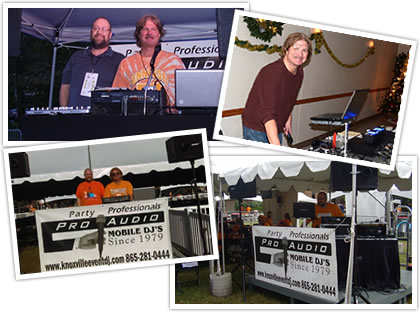 dj pro audio parties collage